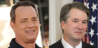 El actor Tom Hanks y el juez del Tribunal Supremo de los Estados unidos, Brett Kavanaugh.